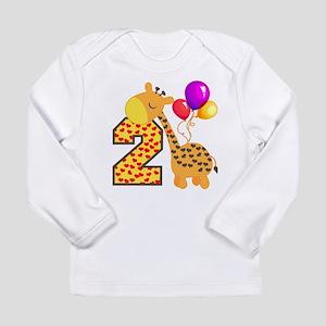 Giraffe 2nd Birthday He Long Sleeve Infant T-Shirt