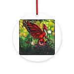 """Fairy Dragon"" Red Fairy Dragon Keepsake (Round)"