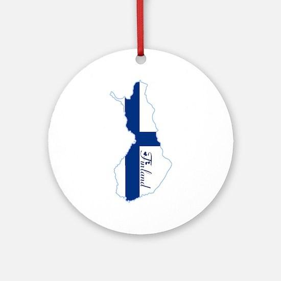 Cool Finland Ornament (Round)