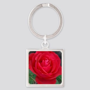 Single red rose Keychains
