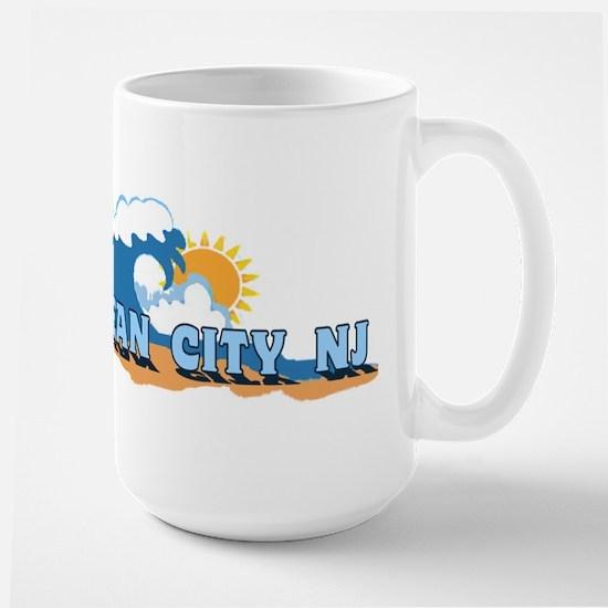 Ocean City NJ - Waves Design Mugs