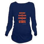 Economy Long Sleeve Maternity T-Shirt