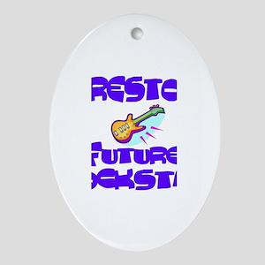 Preston - Future Rock Star Oval Ornament