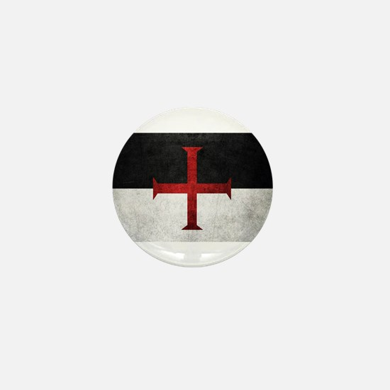 Flag of the Knights Templar Mini Button