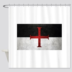 Flag of the Knights Templar Shower Curtain