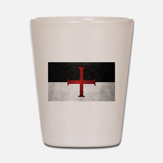 Flag of the Knights Templar Shot Glass