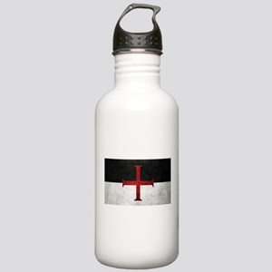 Flag of the Knights Templar Water Bottle