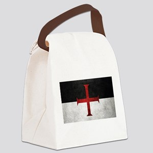Flag of the Knights Templar Canvas Lunch Bag