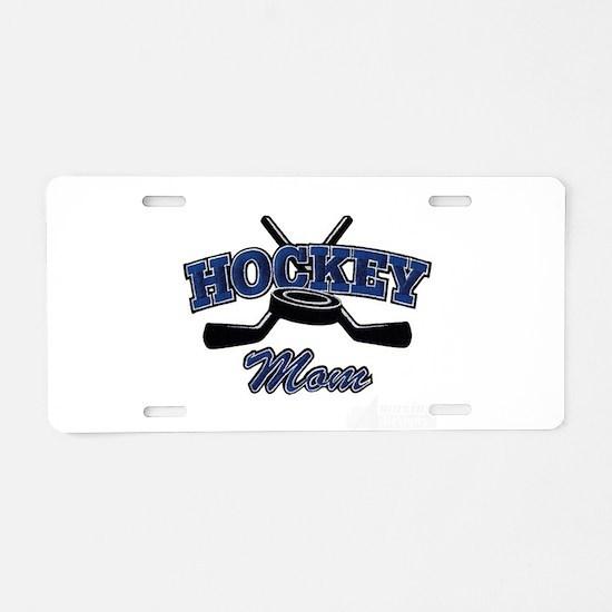 Hockey Mom Aluminum License Plate