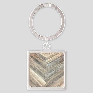 farmhouse geometric barn wood Keychains