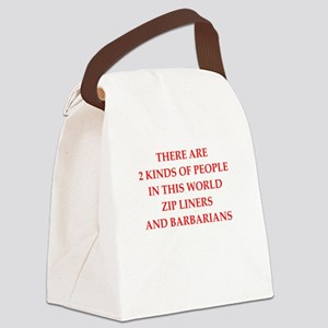 zip lining Canvas Lunch Bag
