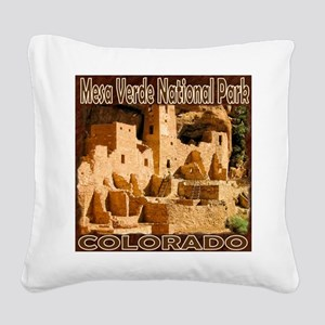 Mesa Verde National Park Square Canvas Pillow
