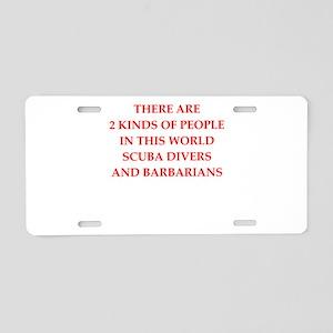 scuba diver Aluminum License Plate