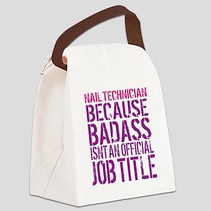 Badass Nail Tech Canvas Lunch Bag