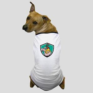 Gladiator Lacrosse Player Stick Crest Cartoon Dog