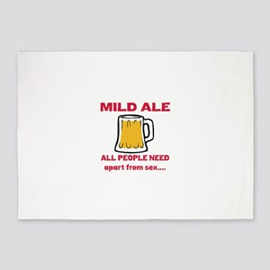 Mild Ale All People Need Apart from 5'x7'Area Rug