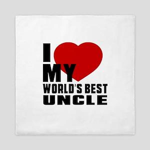 I love My World's Best Uncle Queen Duvet