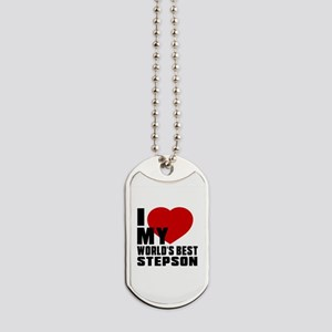I love My World's Best Stepson Dog Tags