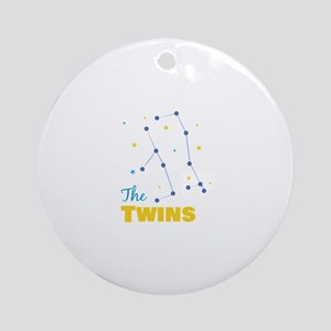 The Twins Round Ornament