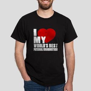 I love My World's Best Paternal grand Dark T-Shirt