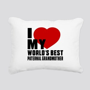 I love My World's Best P Rectangular Canvas Pillow