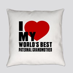 I love My World's Best Paternal gr Everyday Pillow