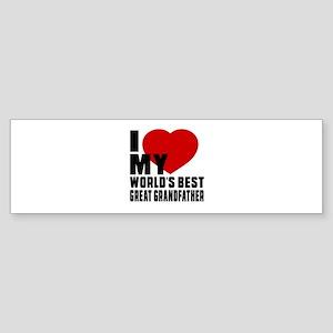 I love My World's Best Great gran Sticker (Bumper)