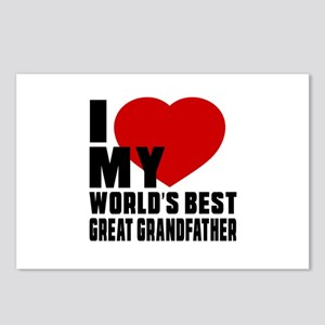 I love My World's Best Gr Postcards (Package of 8)