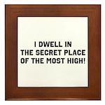 The Secret Place Framed Tile