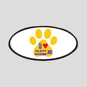 I Love Plott Hound Dog Patch