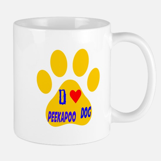 I Love Peekapoo Dog Mug
