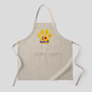 I Love Peekapoo Dog Apron