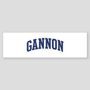 GANNON design (blue) Bumper Sticker