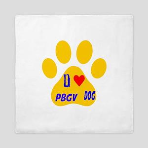 I Love PBGV Dog Queen Duvet