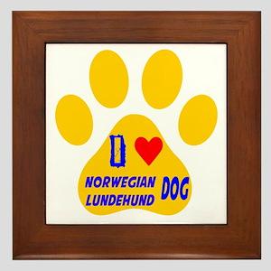 I Love Norwegian Lundehund Dog Framed Tile