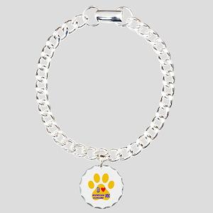 I Love Norwegian Elkhoun Charm Bracelet, One Charm