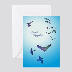 Sympathy card with birds Greeting Cards