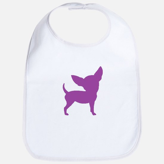Chihuahua Two Purple 1 Bib