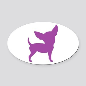 Chihuahua Two Purple 1C Oval Car Magnet