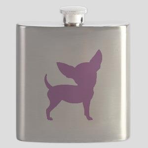 Chihuahua Two Purple 1C Flask