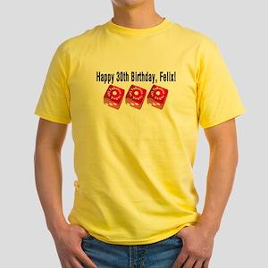 Felix Las Vegas Dice Yellow T-Shirt