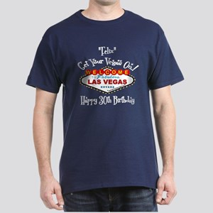 Felix Las Vegas Birthday Dark T-Shirt