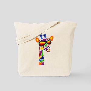 Giraffe in Sunglasses Tote Bag