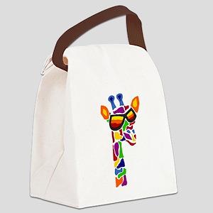 Giraffe in Sunglasses Canvas Lunch Bag