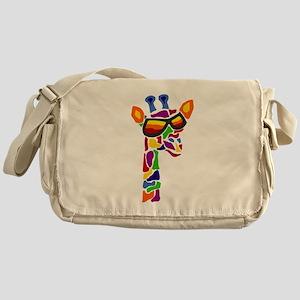 Giraffe in Sunglasses Messenger Bag
