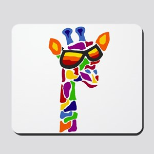 Giraffe in Sunglasses Mousepad