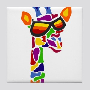 Giraffe in Sunglasses Tile Coaster