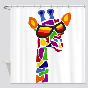 Giraffe in Sunglasses Shower Curtain