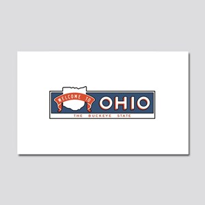 """Welcome to Ohio, The Buckeye S Car Magnet 20 x 12"