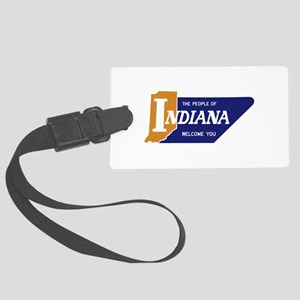 """The People of Indiana Welcome Y Large Luggage Tag"